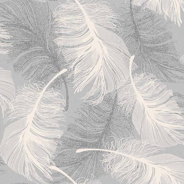 Superfresco Feather Dappled Grey Wallpaper