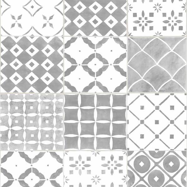 Contour Porches Wallpaper - Grey