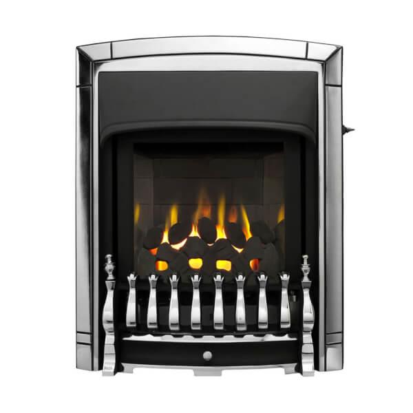 Valor Dream Slimline Homeflame Inset Gas Fire - Chrome