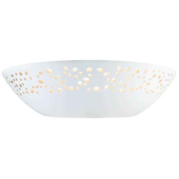 Abelia Ceramic Punched Wall Light
