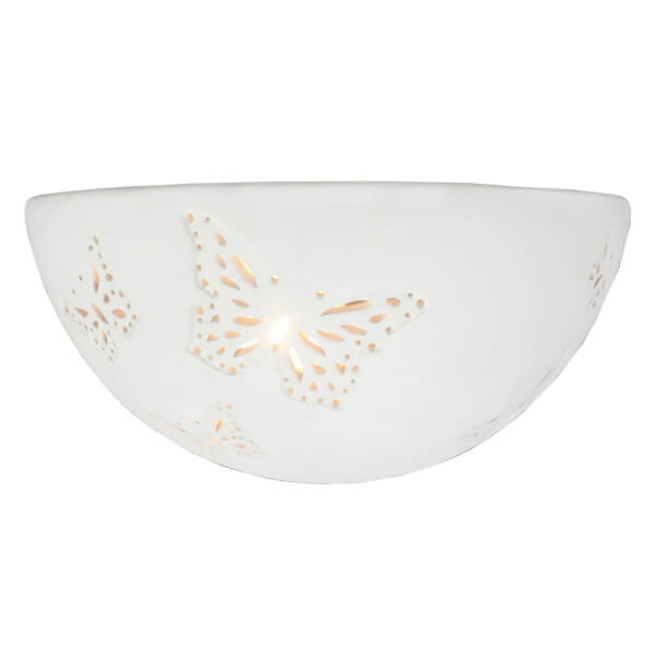 Papillon Ceramic Punched Wall Light