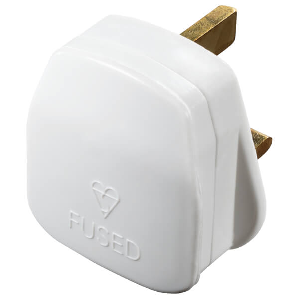 Masterplug 13A Rewirable Plug Socket White