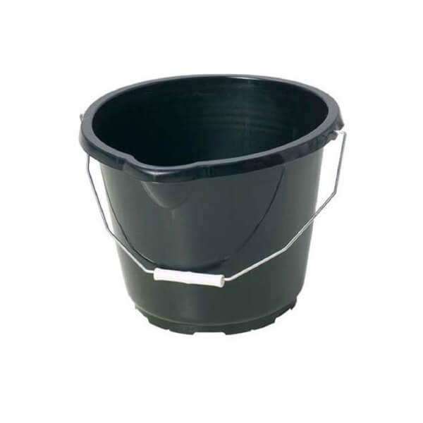 General Purpose Black Plastic Bucket - 14L