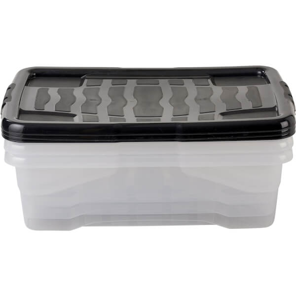 Strata Under Bed 30L Curve Box - Pack of 3