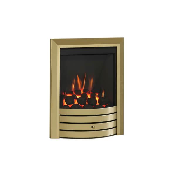 Be Modern Design Slimline Inset Gas Fire - Manual Control - Brass