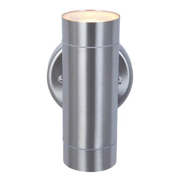 Lutec Rado Up/Down Wall Light - Brushed Steel