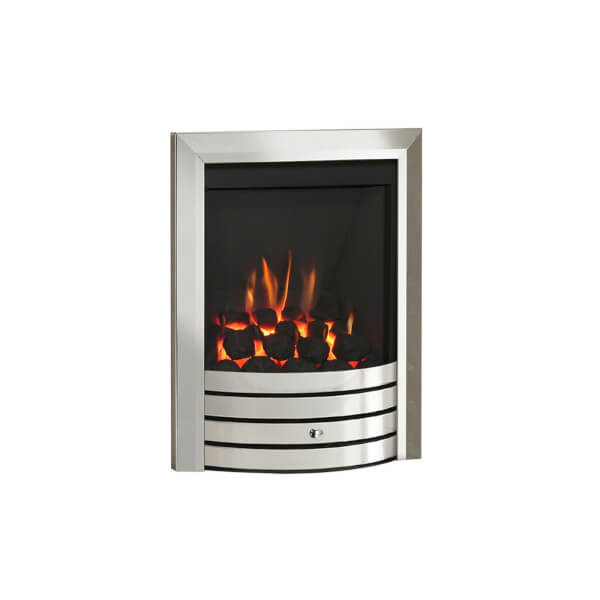 Be Modern Design Slimline Inset Gas Fire - Manual Control - Chrome