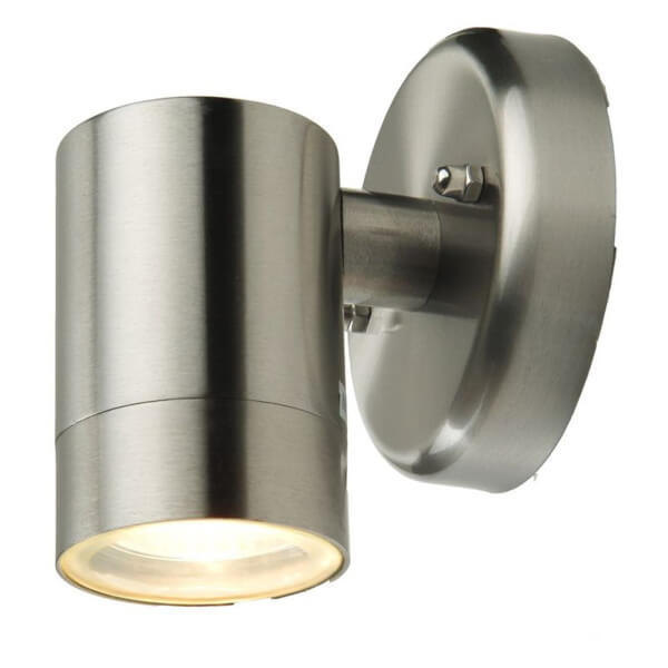 Lutec Rado GU10 Down Wall Light - Brushed Steel