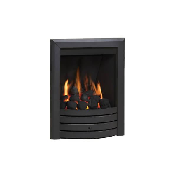 Be Modern Design Deepline Inset Gas Fire - Manual Control - Black