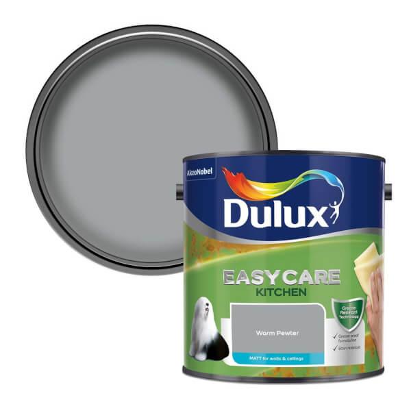 Dulux Easycare Kitchen Warm Pewter Matt Paint - 2.5L