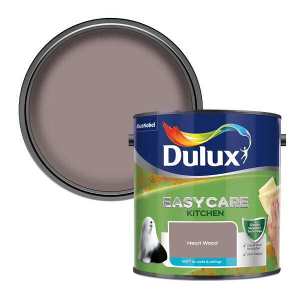 Dulux Easycare Kitchen Heart Wood Matt Paint - 2.5L