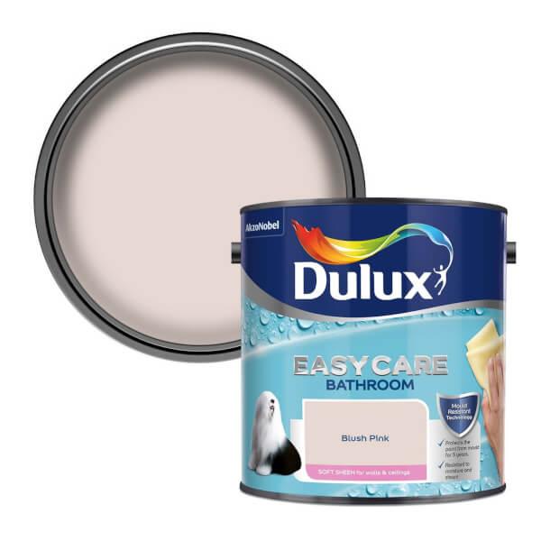 Dulux Easycare Bathroom Blush Pink Soft Sheen Paint - 2.5L