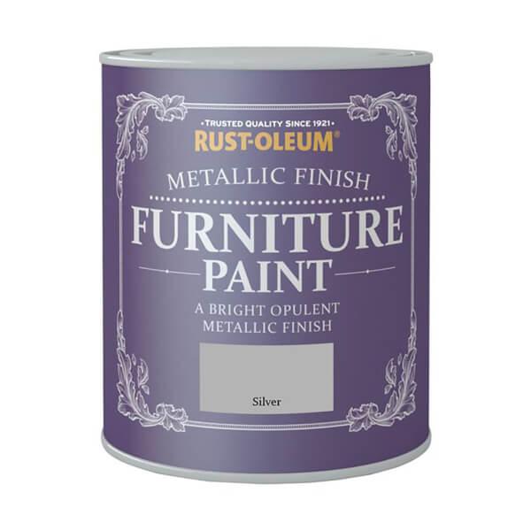 Rust-Oleum Metallic Furniture Paint - Silver - 125ml