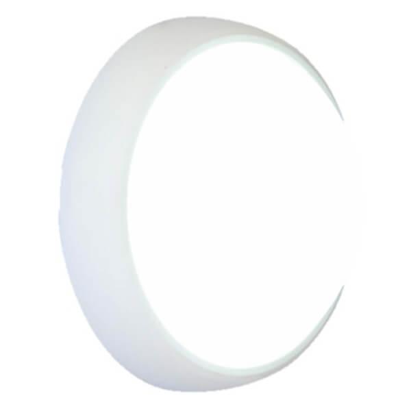 Lutec Slim 12W 3000K Outdoor Wall Light - White