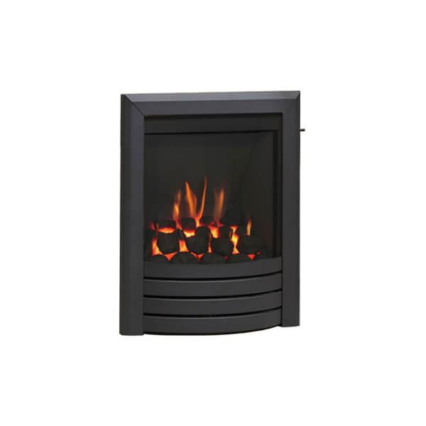 Be Modern Design Slimline Inset Gas Fire - Slide Control - Black