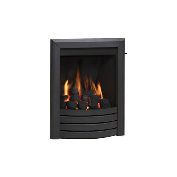 Be Modern Design Deepline Inset Gas Fire - Slide Control - Black