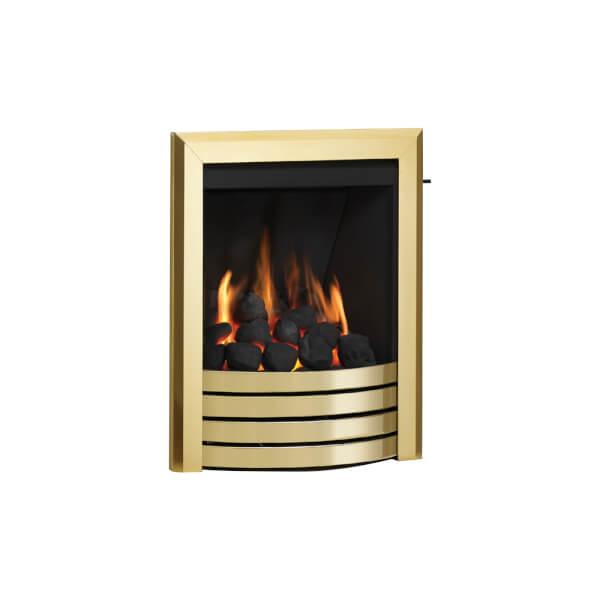 Be Modern Design Deepline Inset Gas Fire - Slide Control - Brass