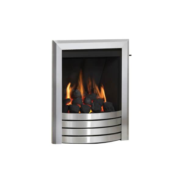 Be Modern Design Deepline Inset Gas Fire - Slide Control - Brushed Steel
