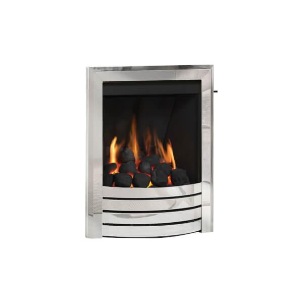 Be Modern Design Deepline Inset Gas Fire - Slide Control - Chrome