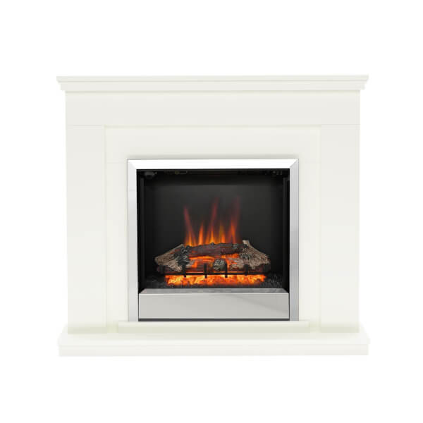 Be Modern Durham Electric Fireplace Suite - Soft White