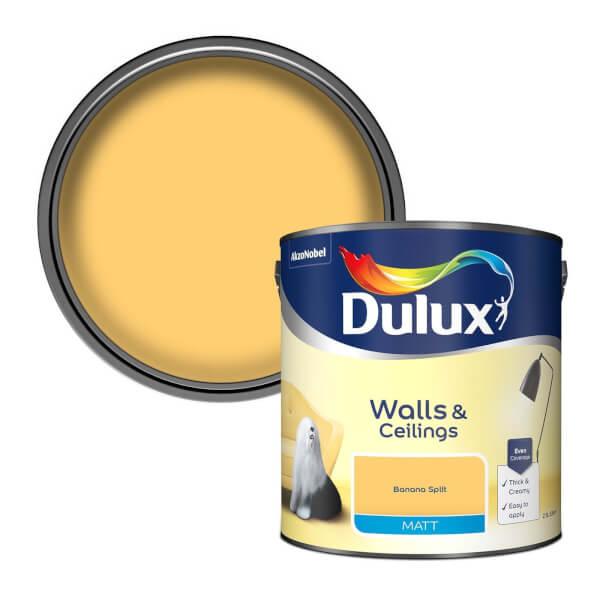 Dulux Standard Banana Split Matt Emulsion Paint - 2.5L