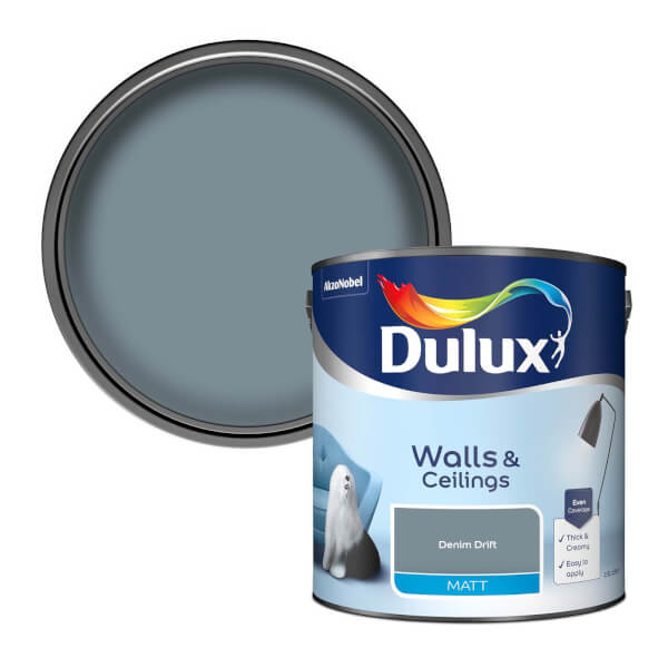 Dulux Standard Denim Drift Matt Emulsion Paint - 2.5L