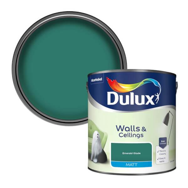 Dulux Standard Emerald Glade Matt Emulsion Paint - 2.5L