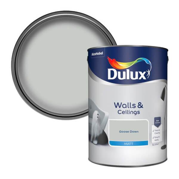 Dulux Standard Goose Down Matt Emulsion Paint - 5L