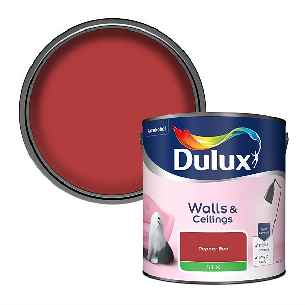 Dulux Standard Pepper Red Silk Emulsion Paint - 2.5L
