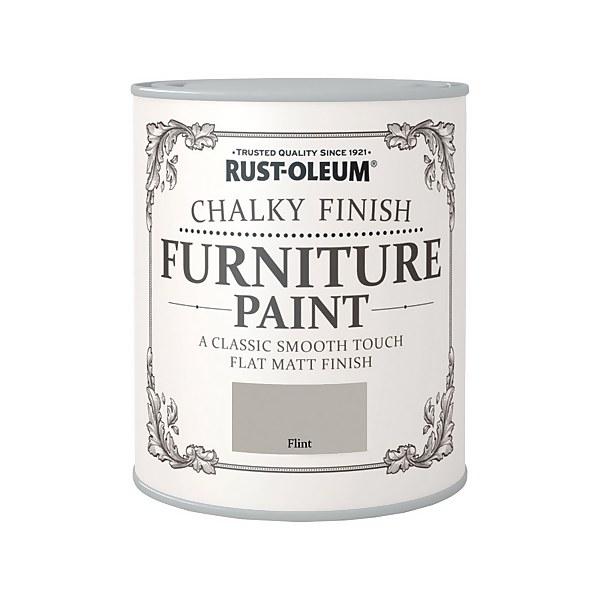 Rust-Oleum Chalky Furniture Paint - Flint - 750ml