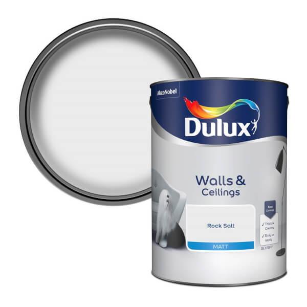 Dulux Standard Rock Salt Matt Emulsion Paint - 5L