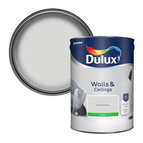 Dulux Standard Polished Pebble Silk Emulsion Paint - 5L