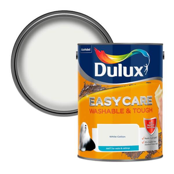 Dulux Easycare Washable & Tough White Cotton Matt Paint 5L