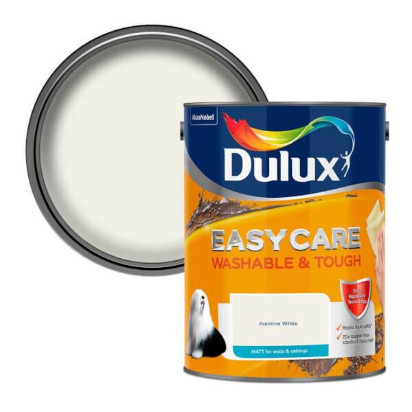 Dulux Easycare Washable & Tough Jasmine White Matt Paint - 5L