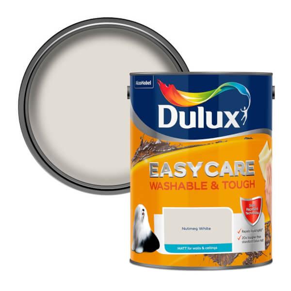 Dulux Easycare Washable & Tough Nutmeg White Matt Paint - 5L