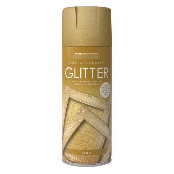 Rust-Oleum Super Sparkly Glitter Spray Paint Gold - 400ml