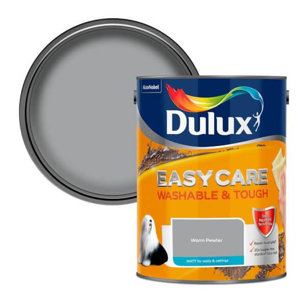 Dulux Easycare Washable & Tough Warm Pewter Matt Paint - 5L