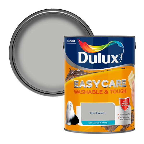 Dulux Easycare Washable & Tough Chic Shadow Matt Paint - 5L