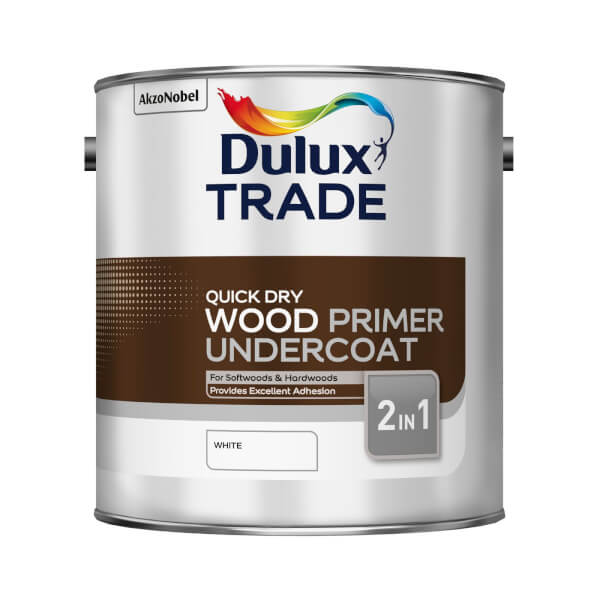 Dulux Trade Wood Primer Undercoat Quick Dry - 2.5L
