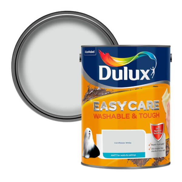 Dulux Easycare Washable & Tough Cornflower White Matt Paint - 5L