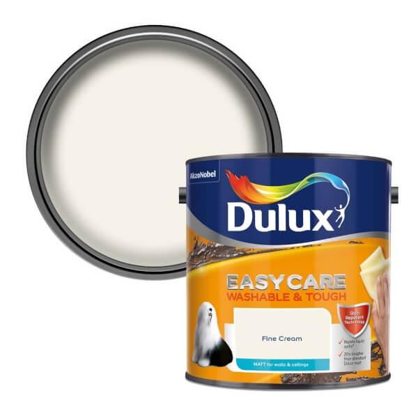 Dulux Easycare Washable & Tough Fine Cream Matt Paint - 2.5L