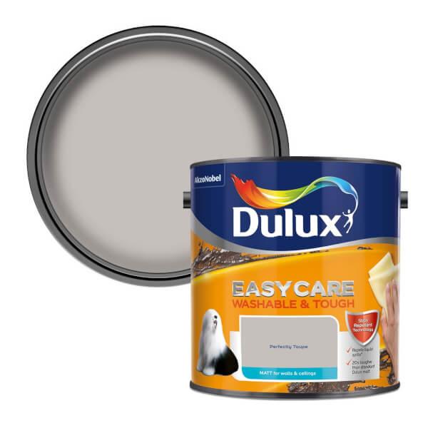 Dulux Easycare Washable & Tough Perfect Taupe Matt Paint - 2.5L