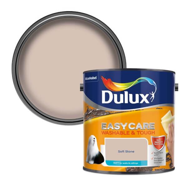 Dulux Easycare Washable & Tough Soft Stone Matt Paint - 2.5L