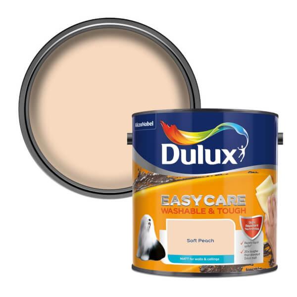 Dulux Easycare Washable & Tough Soft Peach Matt Paint - 2.5L