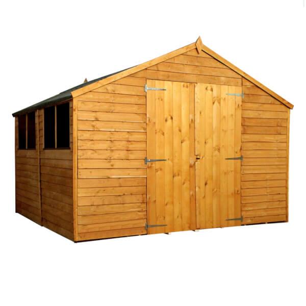 Mercia 10x10ft Overlap Apex Wooden Workshop Shed