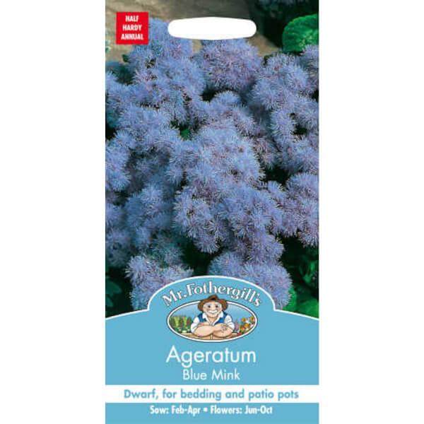 Mr. Fothergill's Ageratum Blue Mink Seeds