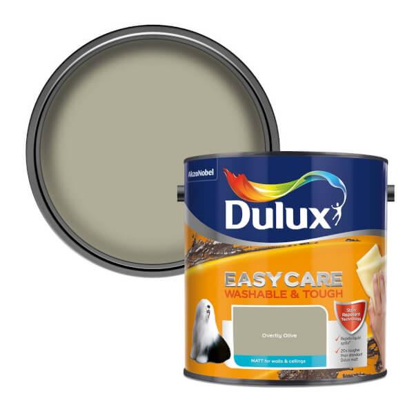 Dulux Easycare Washable & Tough Overtly Olive Matt Paint - 2.5L