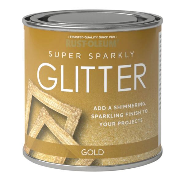 Rust-Oleum Super Sparkly Glitter Gold - 250ml