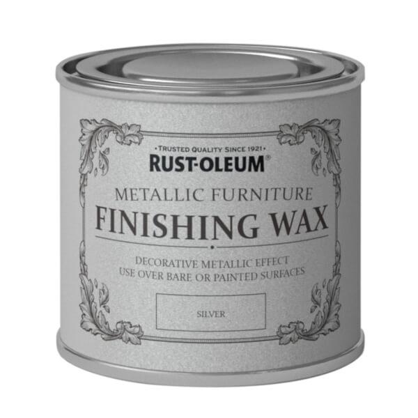 Rust-Oleum Metallic Furniture Finishing Wax Silver - 125ml