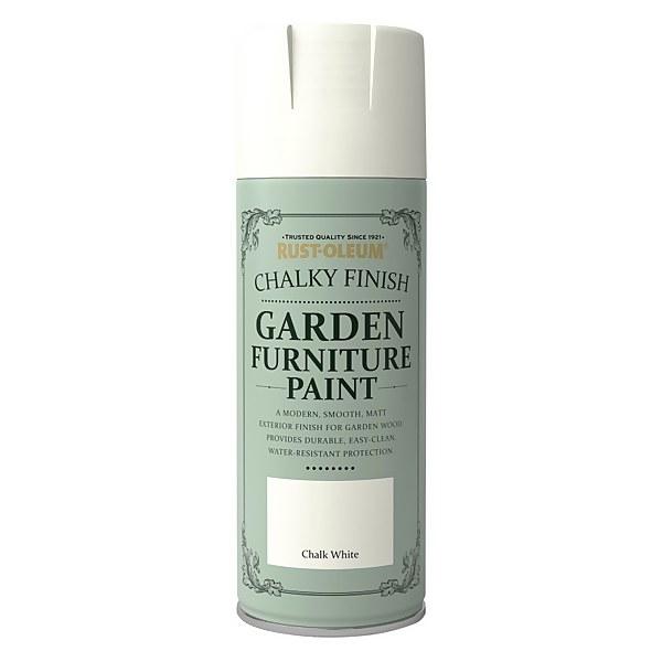 Rust-Oleum Garden Furniture Spray Paint Chalk White - 400ml